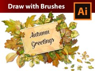 Design a Vintage Autumn Frame with Watercolor Leaf Brushes in Adobe Illustrator