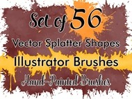 Vector Splatter Shapes