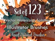 Vector Watercolor Splatter