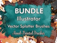 Bundle - Ai Vector Splatter Brushes
