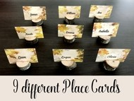 9 different Autumn Place Cards