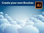 How to Draw Clouds - Create custom Clouds Brushes - Adobe Illustrator Tutorial