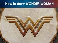 How to Draw the Wonder Woman Logo on Wood