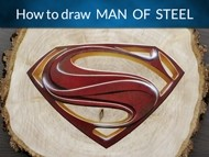 How to Draw the Superman Man of Steel Logo