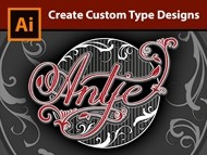 Lettering a Vintage Logo in Adobe Illustrator - How to design the Name Antje