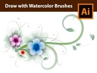 How to Draw a Floral Card Design with Watercolor Brushes in Adobe Illustrator