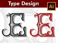 How to make Custom Type Designs - Letter E Monogram - in Adobe Illustrator