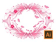 Adobe Illustrator - Decorative Swirl Floral Banner - Tutorial