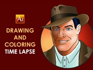 Adobe Illustrator - How to Draw and Color a Character - Time Lapse
