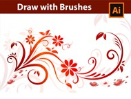 Adobe Illustrator Tutorial - Draw with Brushes - Swirls, Florals