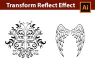 Adobe Illustrator Tutorial - Draw with the Transform Reflect Effect