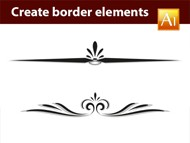 Adobe Illustrator Tutorial - How to create calligraphic border elements - 01