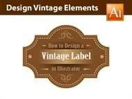Adobe Illustrator Tutorial - How to Design a Vintage Label