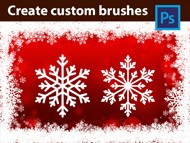 Adobe Photoshop Tutorial - Create Custom Brushes - Snowflakes