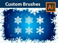 Create custom Snowflake Brushes with Dagubi - Lace Template Set