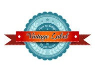 Blue Vintage Label