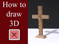 Drawing a 3D Cross - Anamorphic Illusion