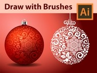 How I Draw Fancy Christmas Balls in Adobe Illustrator