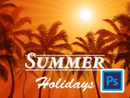How to create a Summer Holidays background in Photoshop