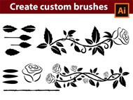 How to Create Custom - Roses - Brushes in - Adobe Illustrator Tutorial - 07