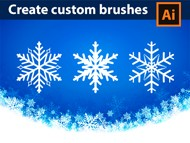 How to Create Custom Brushes - Snowflakes - Adobe Illustrator Tutorial - 06