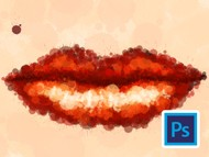 How to make lips with a splash brush in Adobe Photoshop
