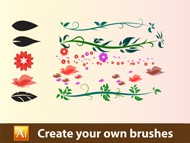 How to create your own brushes in - Adobe Illustrator Tutorial - 03