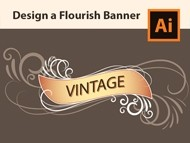 How to Design a Flourish Banner - Adobe Illustrator Tutorial