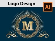 How to Design a Golden Monogram Logo - Adobe Illustrator Tutorial