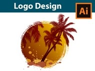 How to design a Palm Tree Logo - Adobe Illustrator Tutorial
