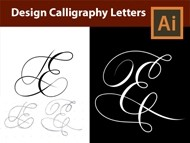 How to Design Vector Calligraphy Letters from a Sketch in Adobe Illustrator