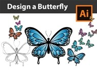 How to Draw a Butterfly from Sketch to Vector - Adobe Illustrator Tutorial