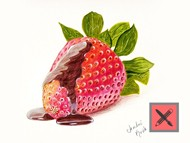 How to draw a strawberry with chocolate sauce