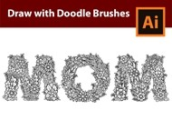 How to Draw MOM with Doodle Brushes in Adobe Illustrator