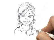 How to Sketch a Simple Face of a Beautiful Girl Cartoon - Pencil Sketch for Beginners