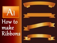 Adobe Illustrator Tutorial - How to make a Ribbon Banner in 4 different ways
