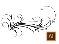 Illustrator Vector Swirls Swooshes Floral Tutorial